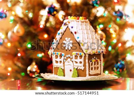 Gingerbread House Stock Images RoyaltyFree Images Vectors - Christmas gingerbread house