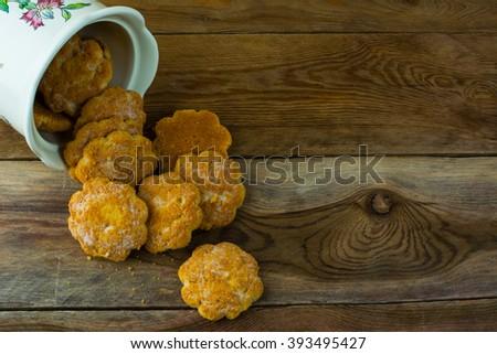 Rustic Cookie Jar Impressive Homemade Cookies Jar On Rustic Background Stock Photo 60