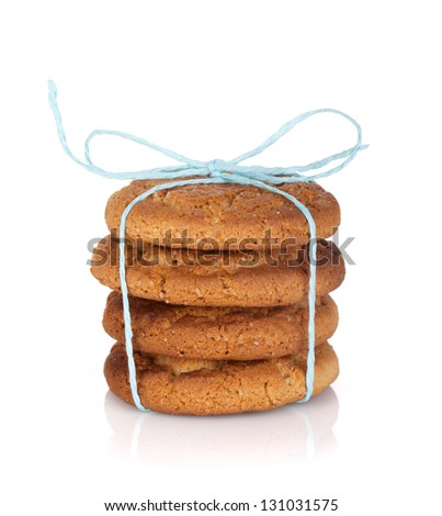 Homemade cookies. Isolated on white background - stock photo