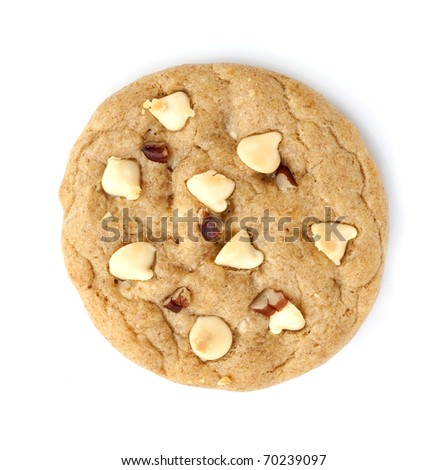 Homemade Cookies on white background - stock photo