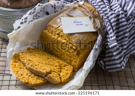 Homemade Corn Bread Horizontal  - stock photo