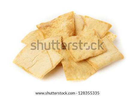 Homemade Crunchy Pita Chips made with whole wheat - stock photo