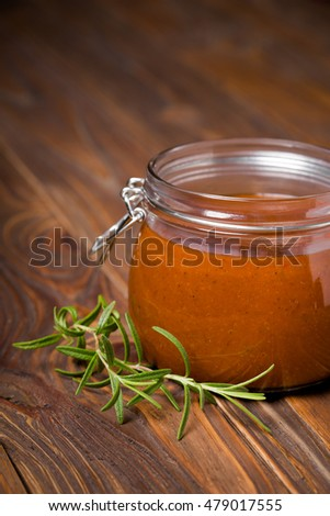 Homemade DIY natural healthy barbecue sauce. Delicous bbq marinade.