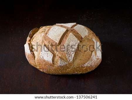 homemade french bread - stock photo