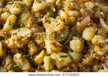 Homemade German Fried Potatoes with Herbs and Spices