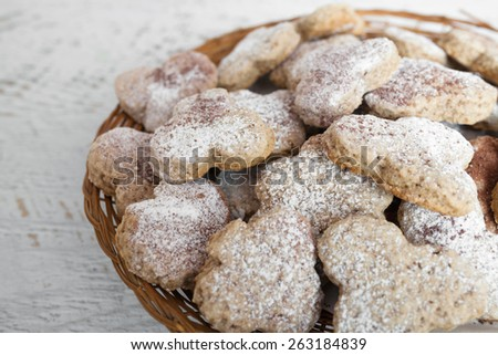Homemade ginger cookies - stock photo
