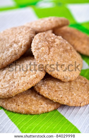 Homemade gingerbread cookies - stock photo
