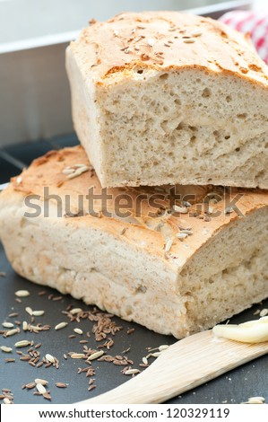 Homemade Gluten Free Bread - stock photo