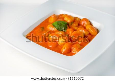 Homemade gnocchi, italian potato pasta - stock photo