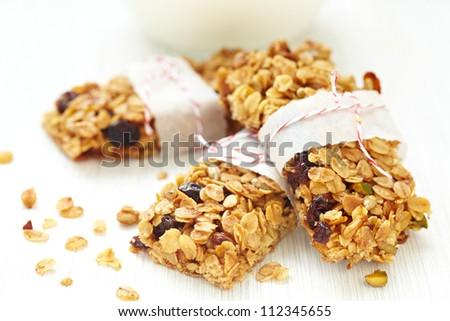 Homemade Granola Bars - stock photo