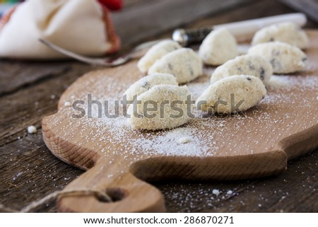 Homemade Italian Gnocchi with semolina and ricotta - stock photo