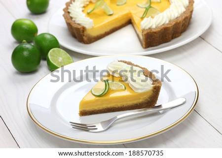 homemade key lime pie - stock photo