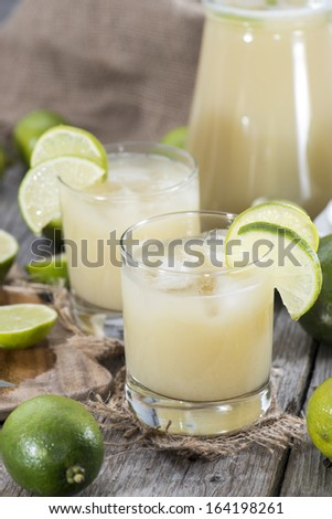 Homemade Lime Juice with fresh fruits