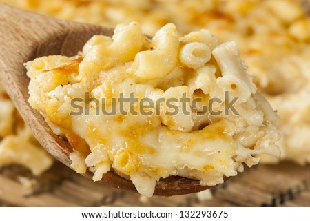 Homemade Macaroni and Cheese dinner with noodles - stock photo