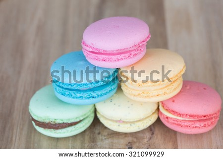 Homemade Macaroons - stock photo
