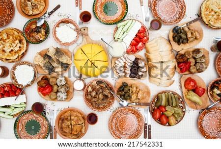 homemade moldavian food - stock photo