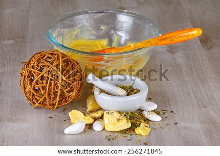 Homemade Natural and Organic Ointments  - stock photo