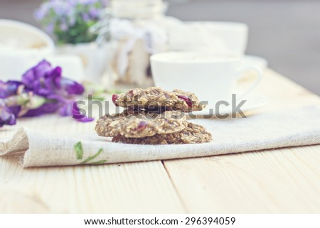 Homemade Oatmeal cookie diet - stock photo