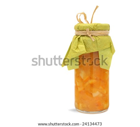 Homemade orange jam, marmalade - stock photo