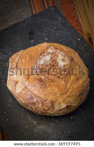 Homemade organic modern bread - stock photo