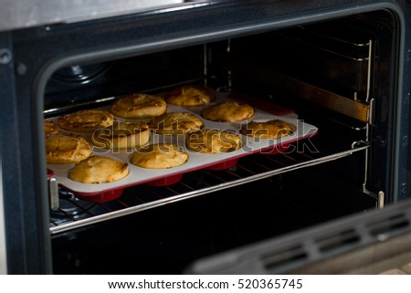 homemade pastries in the oven