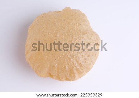 Homemade Poori or puri, also known as Indian fried bread