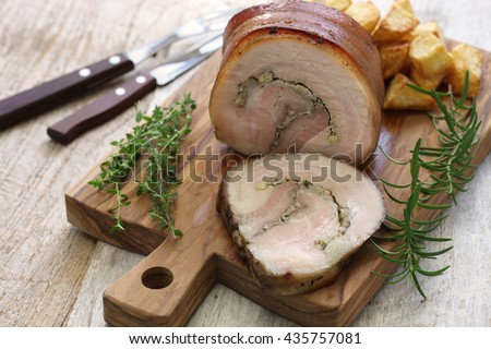 homemade porchetta, italian roast pork