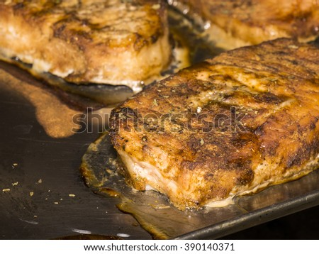 Homemade Pork BBQ  - stock photo