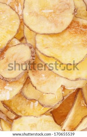 Homemade Potato chips  - stock photo