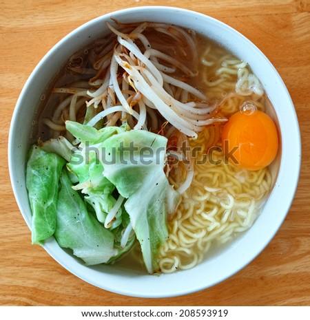 Homemade Ramen Noodle - stock photo