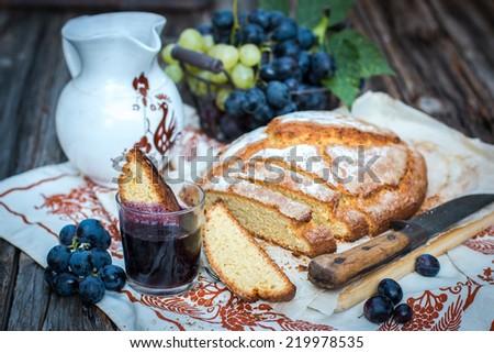 Homemade rustic italian cake - ciambella - stock photo