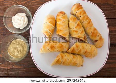 Homemade Sausage Snack - stock photo