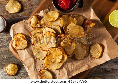 Homemade Spicy LIme and Pepper Baked Potato Chips with Herbs