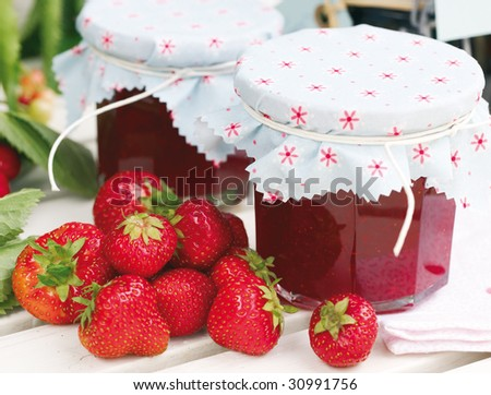 Homemade strawberry jam - stock photo