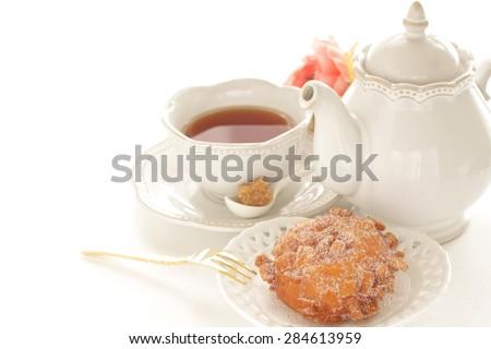 Homemade sugar donut - stock photo