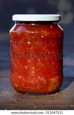 homemade tomato sauce with onions
