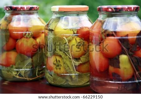 Homemade tomatoes - stock photo