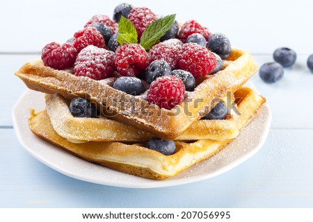 Stacked Waffles Stock Photos, Images, & Pictures ...