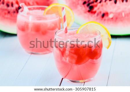 Homemade watermelon lemonade - stock photo