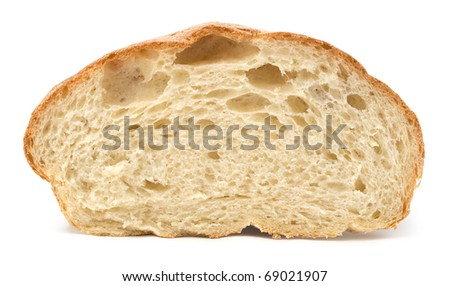 Homemade white bread on a white background - stock photo