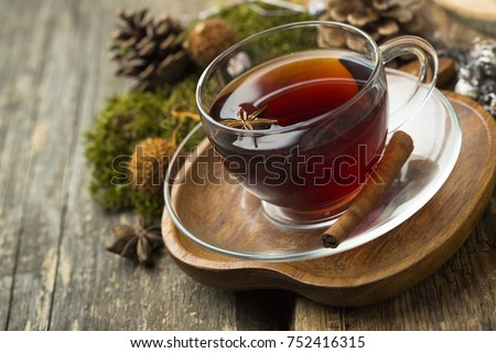 Homemade winter tea with spices