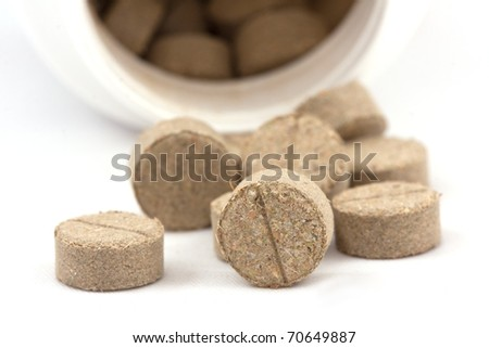 homeopathic pills on isolated - stock photo