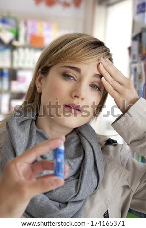 Homeopathy, Woman - stock photo