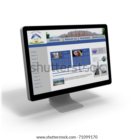Homepage and Homepagetool (CMS) - stock photo
