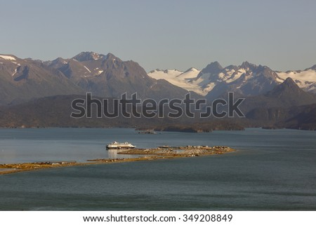 Homer Spit seen from above - stock photo