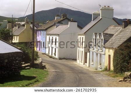Homes in Eyeries Village, West Cork, Ireland - stock photo