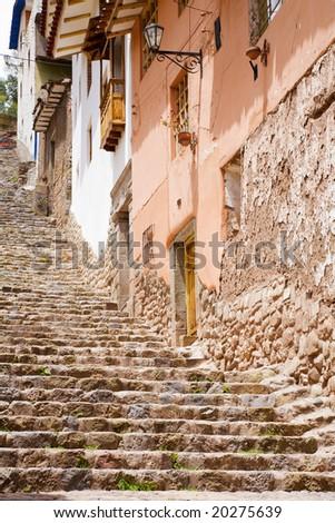 Homes of Cusco - stock photo