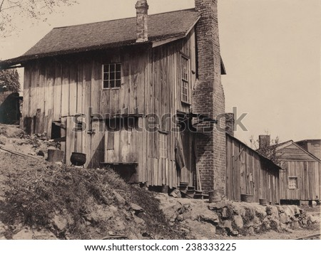 Homes, Some of the workers in the Hosiery Mill live in shacks like these, Rome, Georgia, photograph by Lewis Wickes Hine, photograph April, 1913.
