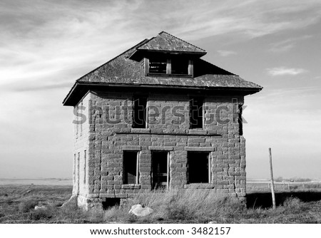 Homestead house - stock photo