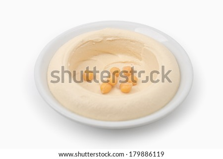 Hommos Plate - Lebanese Cuisine  - stock photo